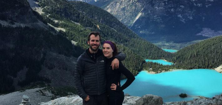 Kat and Dan at Joffre Lakes