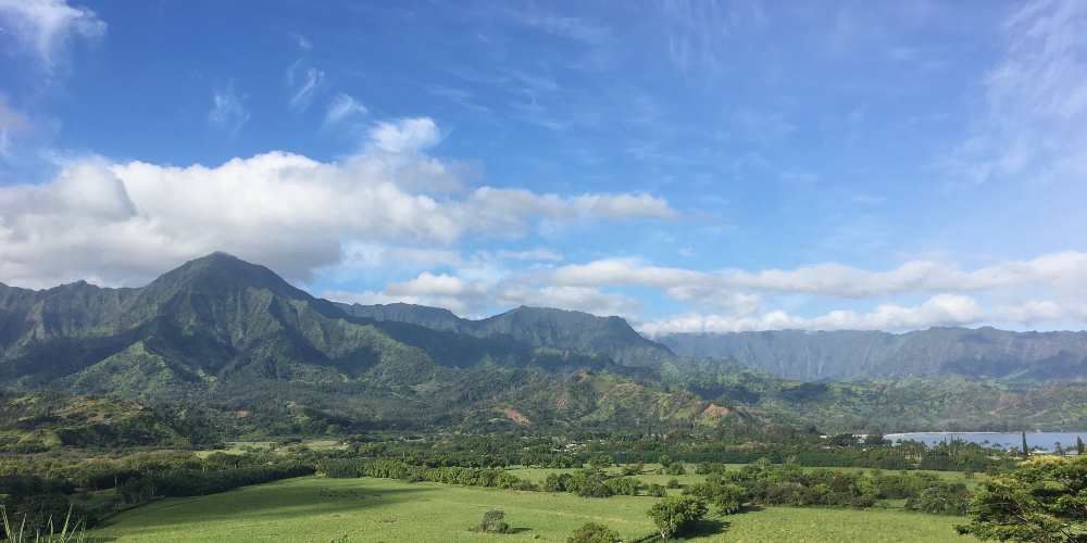 The view driving to Hanalei Bay